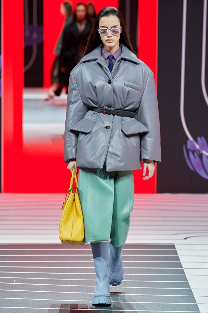 Color blocking в коллекции Prada